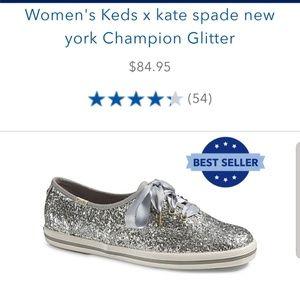 Kate Spade Keds champion glitter shoes